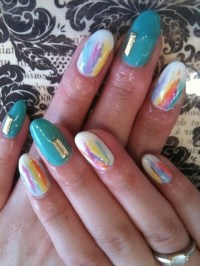 Bedazzled Nail Art Designs for Summer.