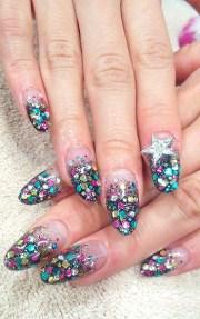 glam nail art design summer
