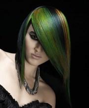 cool multi-chromatic hair color