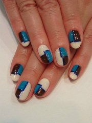 chic and easy fall nail art design