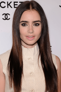 Lily Collins' Hairstyles and Hair Color.