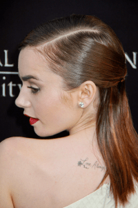 Pictures : Lily Collins' Hairstyles and Hair Color - Lily ...