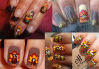 Pictures : 4 Great Thanksgiving Nail Art Ideas - Turkey ...