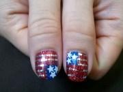 fourth of july nail art and toe