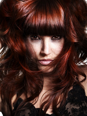 red hair color hair style