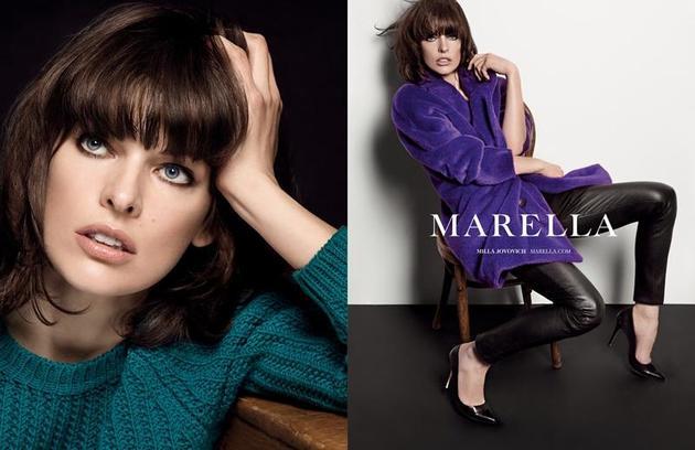 Mila Jovovich Marella Fall 2013 Ad Campaign