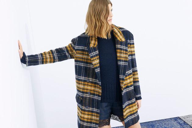 Zara Checked Wool Coat
