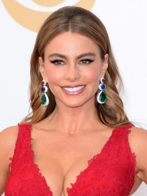 Sofia Vergara Loose Curly Hairstyle With Bump