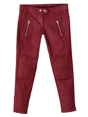 Isabel Marant Hm Moto Pants Red
