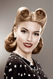 50s hairstyles short pin