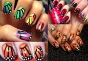 diy butterfly nail art