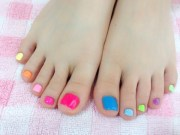 toe nail design - summer