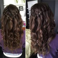 Quick and Easy Waterfall Braids for Long Hair Tutorial ...