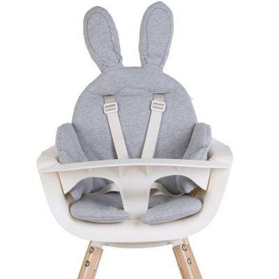 coussin de chaise haute lapin gris