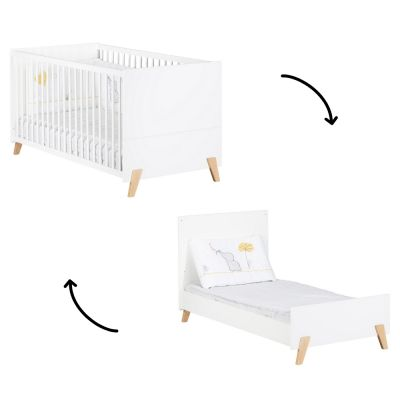 lit bebe evolutif little big bed joy naturel 70 x 140 cm