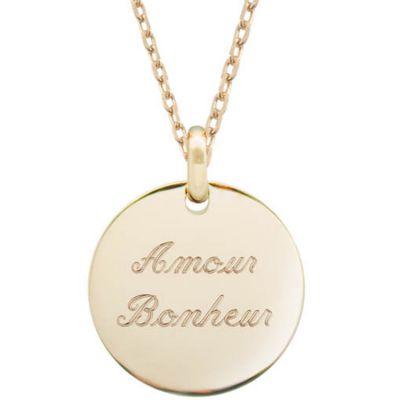 collier petits tresors chaine 45 cm personnalisable plaque or