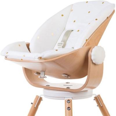 coussin reducteur naissance pour chaise haute evolu newborn pois dores