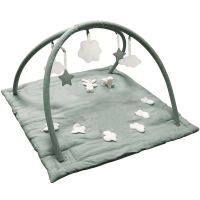 tapis d eveil musical avec arches vert celadon 90 cm