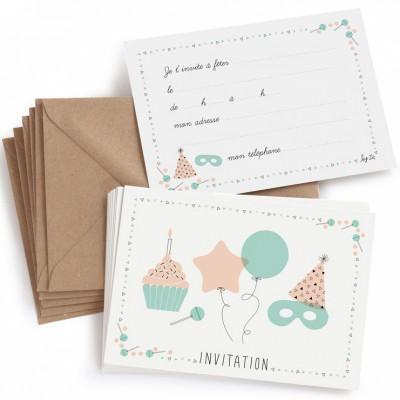 lot de 8 cartes d invitation anniversaire