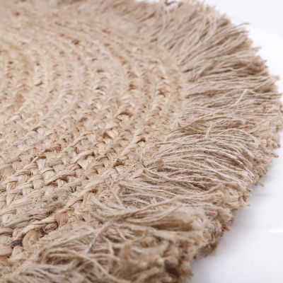 tapis rond en jute terra 140 cm