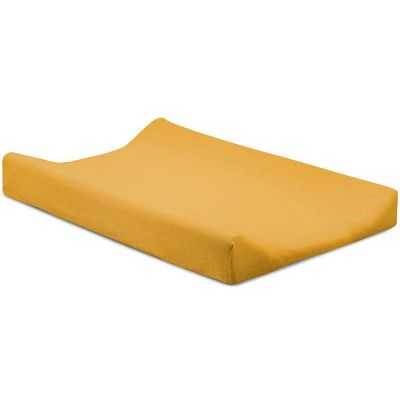 housse de matelas a langer double jersey jaune 50 x 70 cm