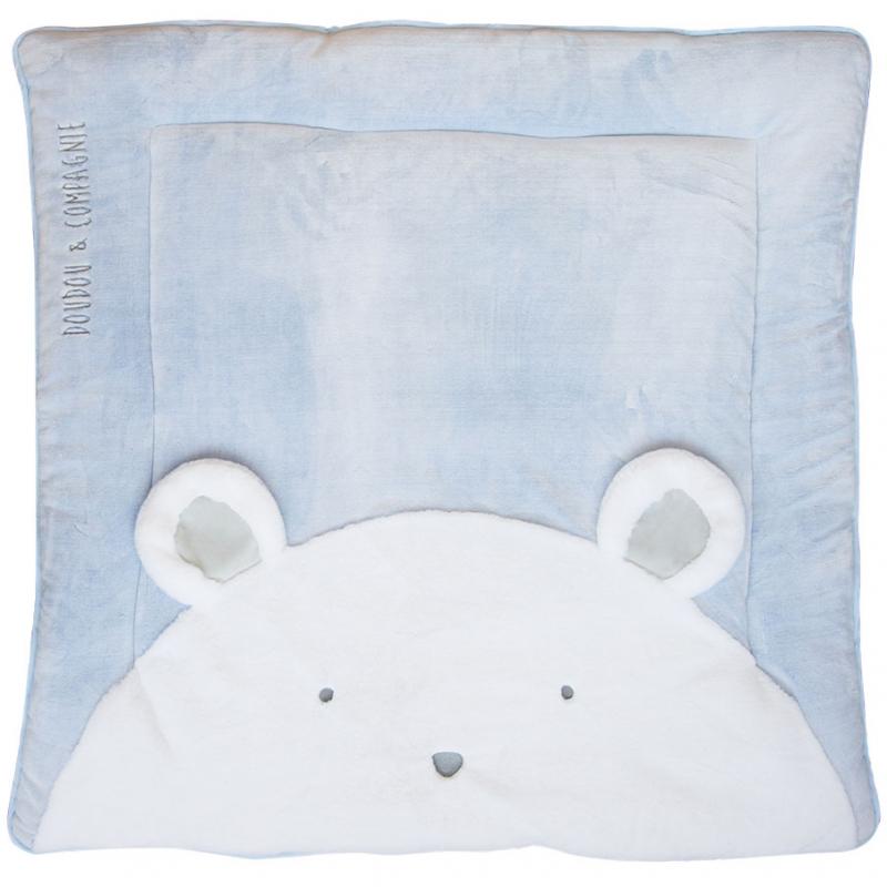 tapis de jeu tapidou ours bleu 100 x 100 cm