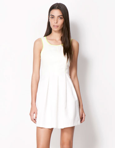 bershka vestido branco