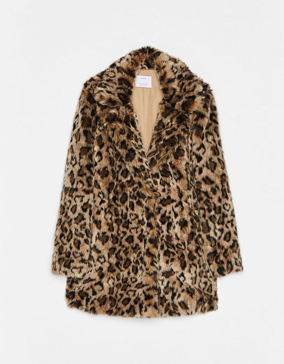Manteau long avec imprimé léopard