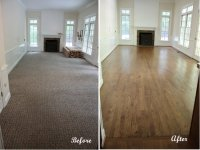 Carpet To Hardwood Floor Before And After - Carpet Vidalondon
