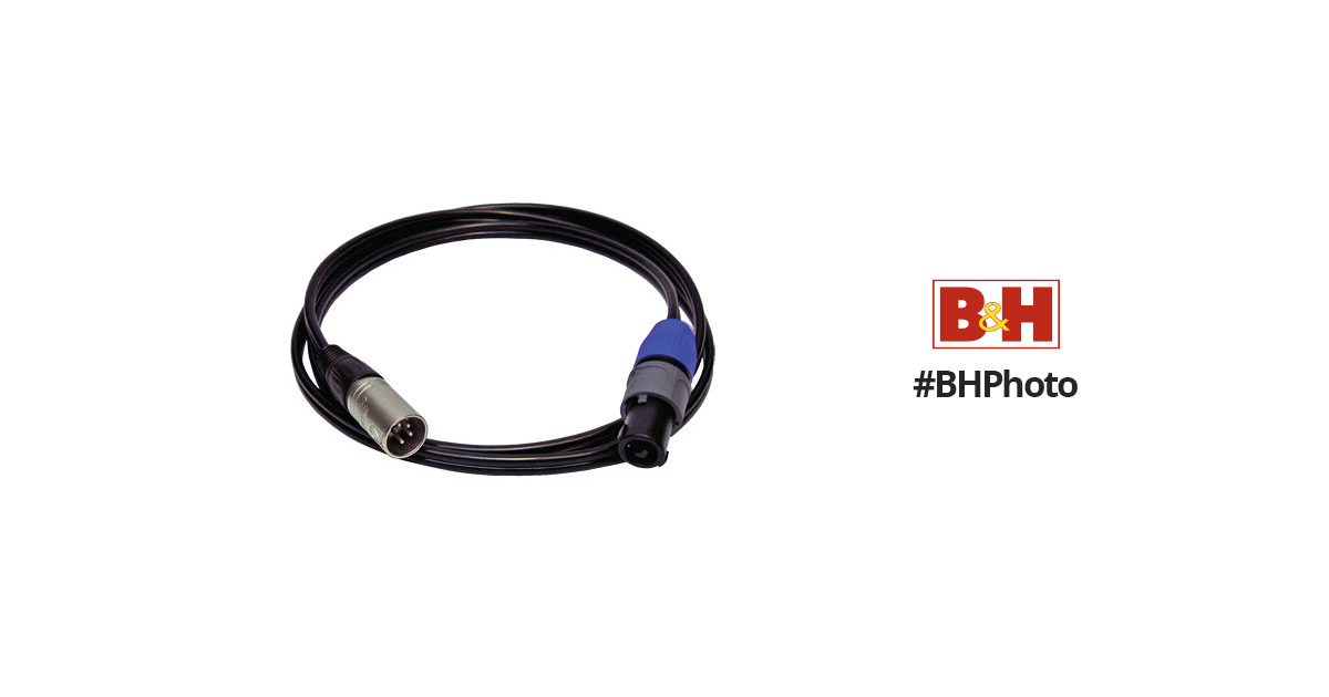 PSC speakON to 4-Pin XLR Male DC Power Cable (5') FPSC1138 B&H