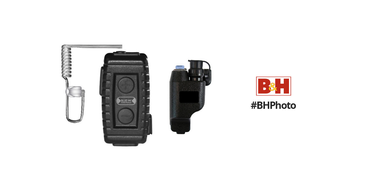 BLUE-WI Nighthawk Tactical Bluetooth Lapel Mic and BW