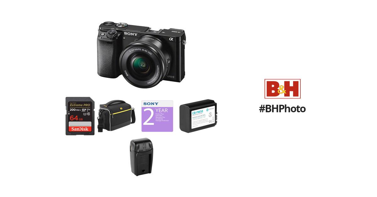 Sony Alpha a6000 Mirrorless Digital Camera with 16-50mm