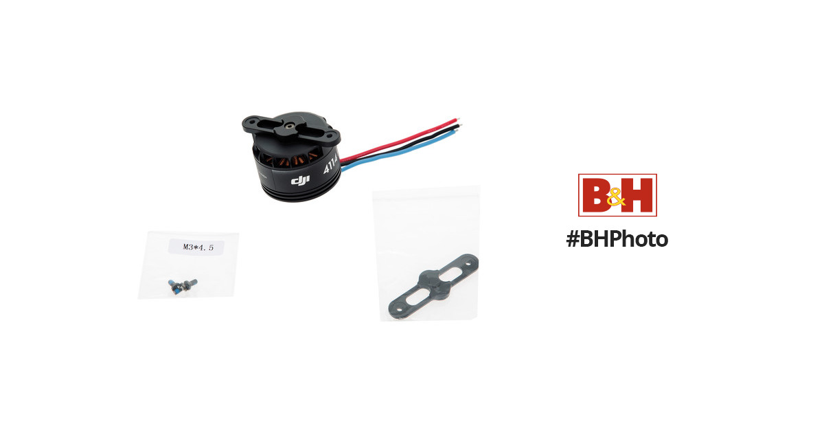 DJI 4114 Motor with Black Prop Cover for S1000 CP.SB