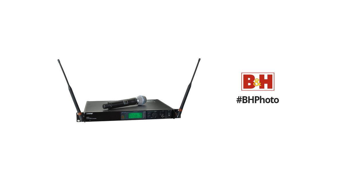 Shure UHF-R Single-Channel UHF Handheld UR24S+/BETA87A-G1 B&H