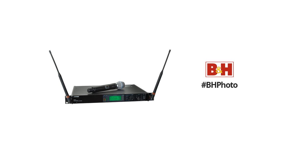 Shure UHF-R Single-Channel UHF Handheld UR24S+/BETA87A-L3 B&H