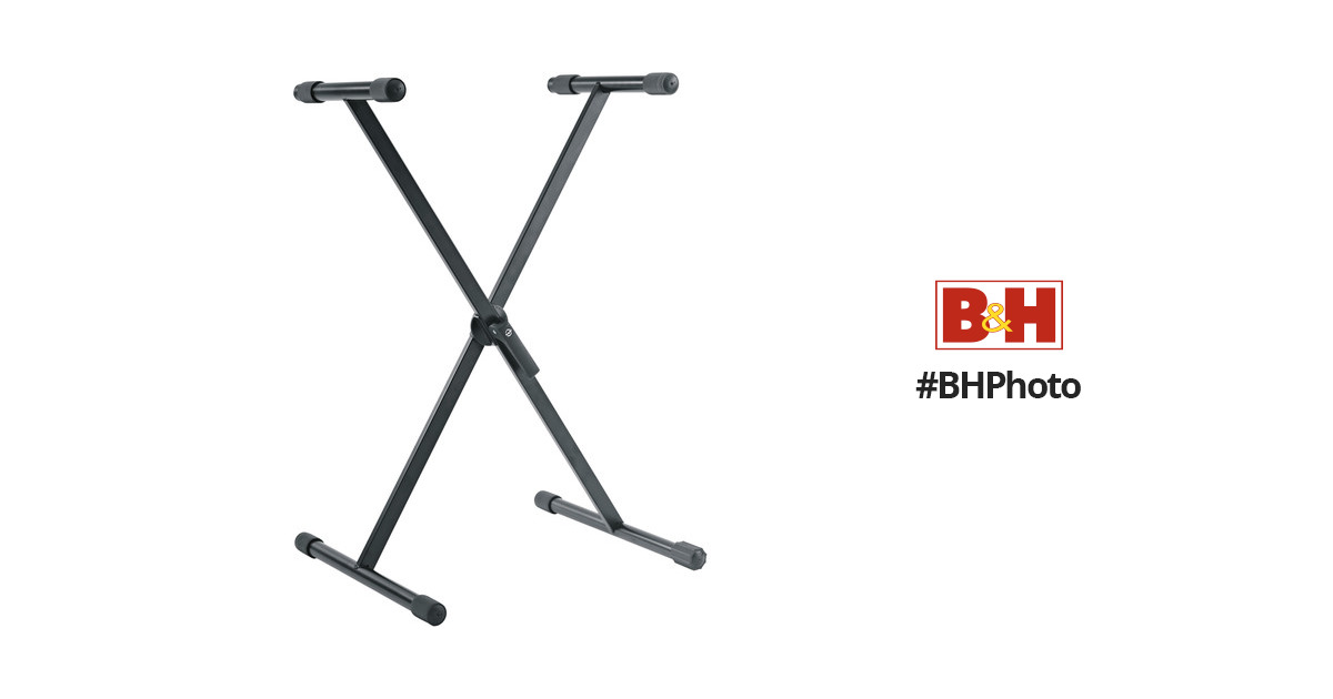 K&M 18933 Keyboard Stand, X Style (Black) 18933-070-55 B&H