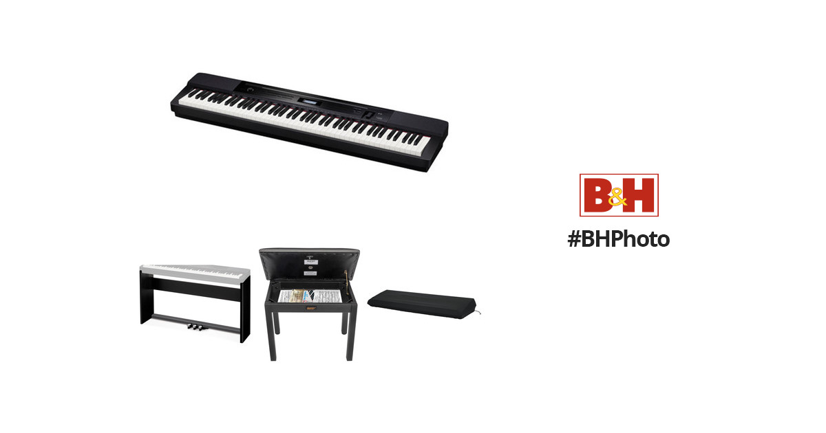 Casio PX-350 Privia 88-Key Digital Piano with Stand, Bench B&H