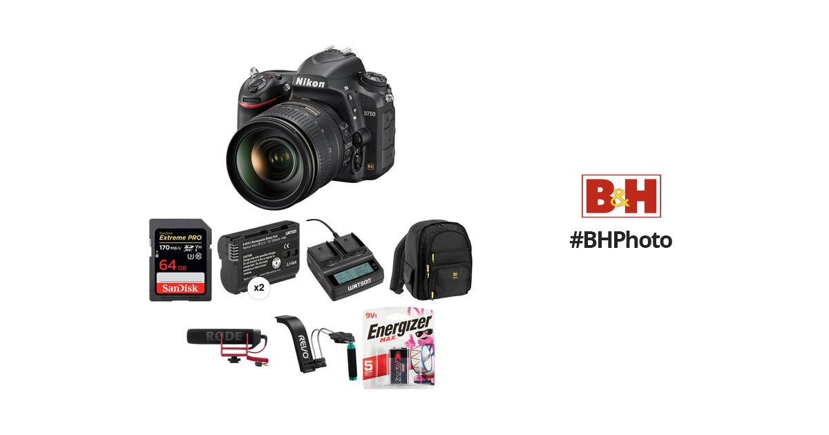 Nikon D750 DSLR Camera with 24-120mm Lens Video Kit B&H Photo