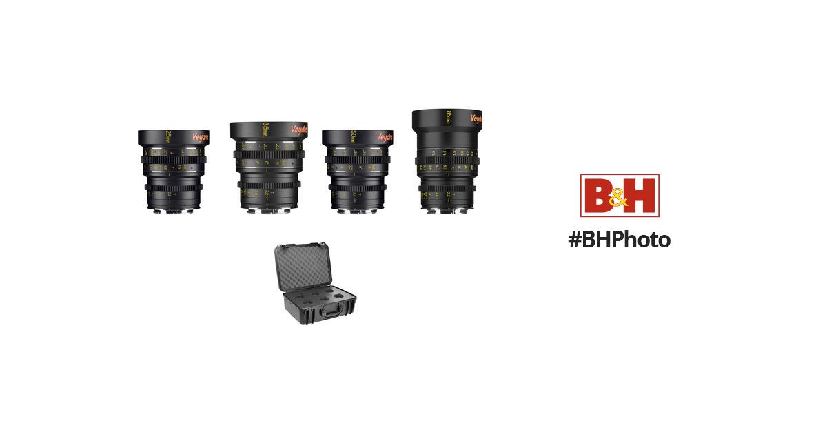 Veydra Mini Prime 4 Lens Kit with 6 Lens V1-4LENSKITCASESONYEI