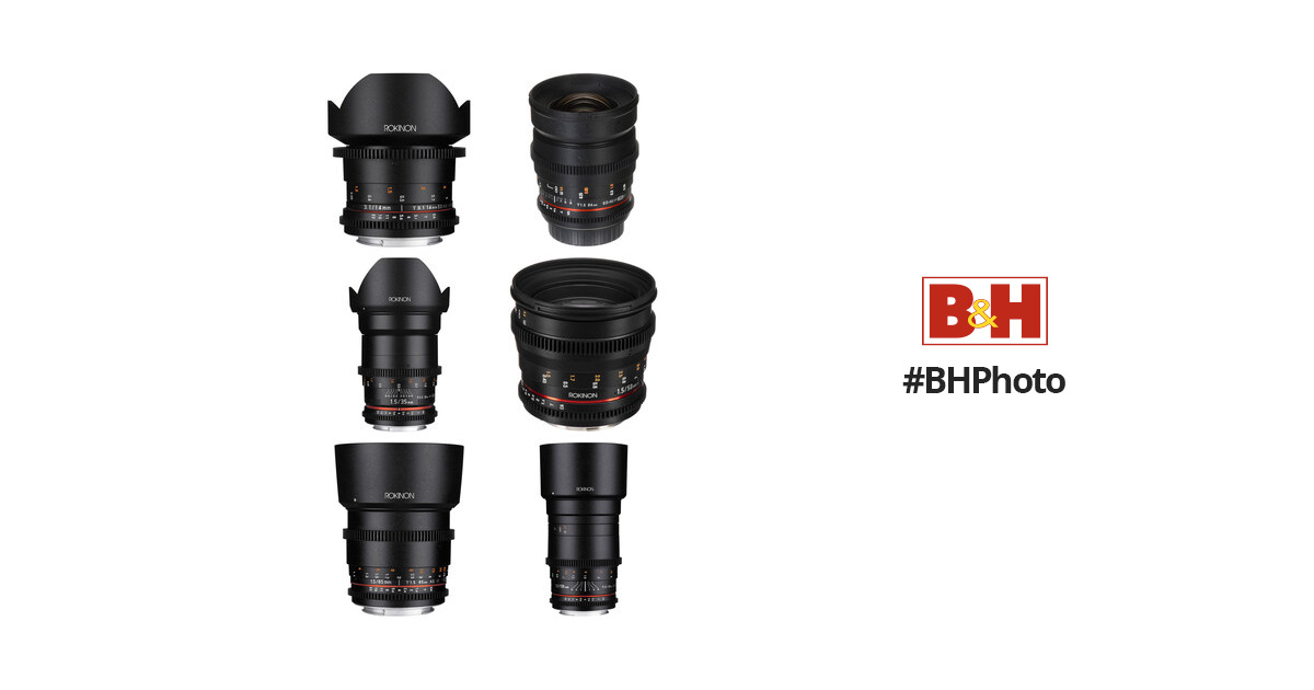 Rokinon Cine DS 6 Lens Kit with Canon EF Mount B&H Photo Video