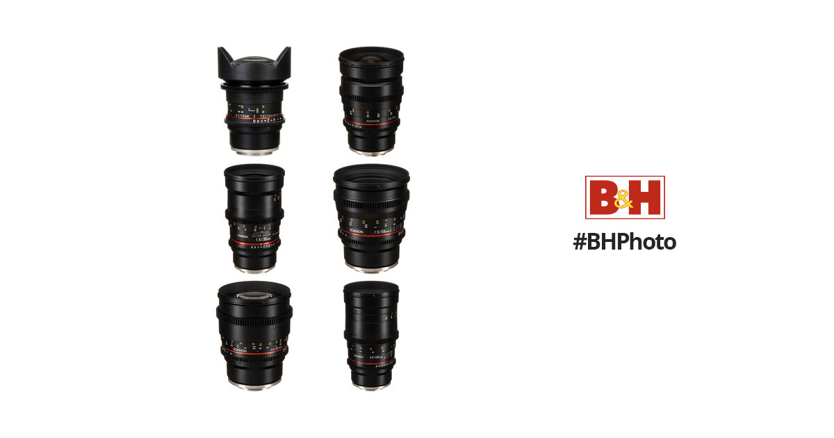 Rokinon Cine DS 6 Lens Kit with Sony E Mount B&H Photo Video
