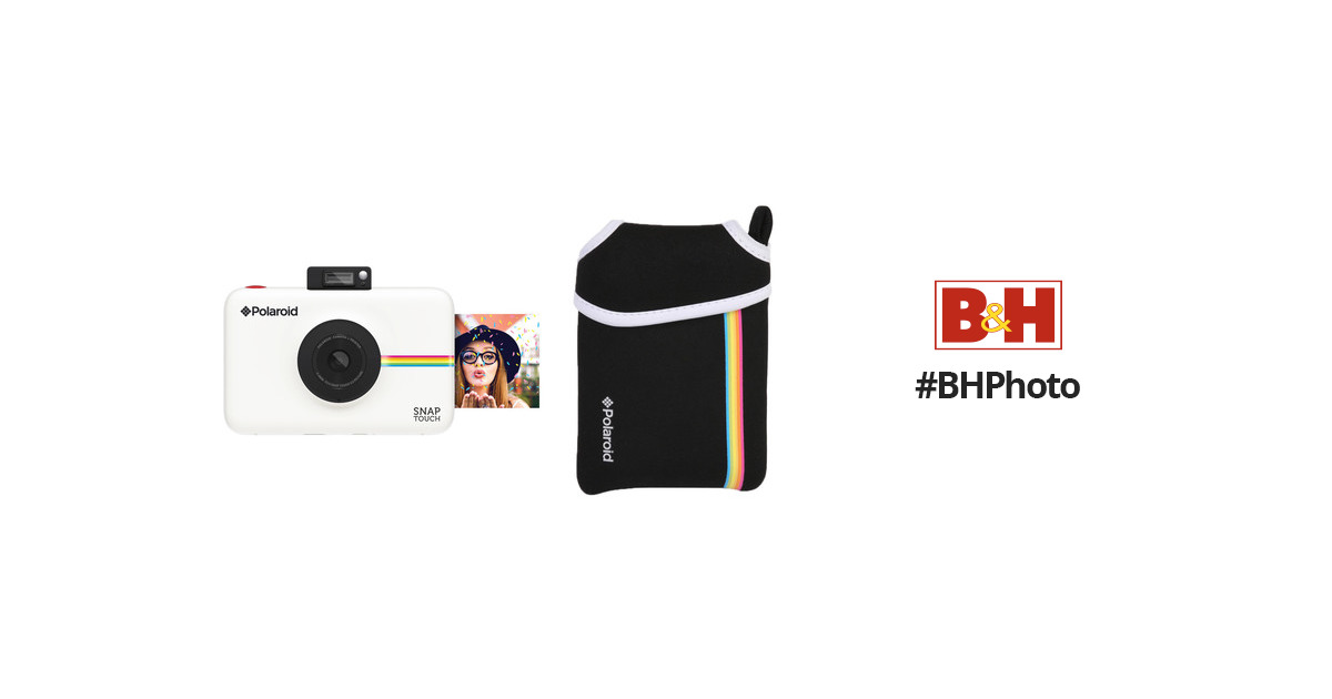 Polaroid Snap Touch Instant Digital Camera with Pouch Kit B&H