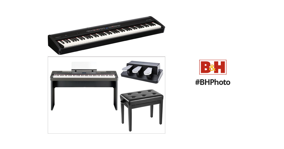 Roland FP-50 Digital Piano Kit with Stand, Bench, and Triple