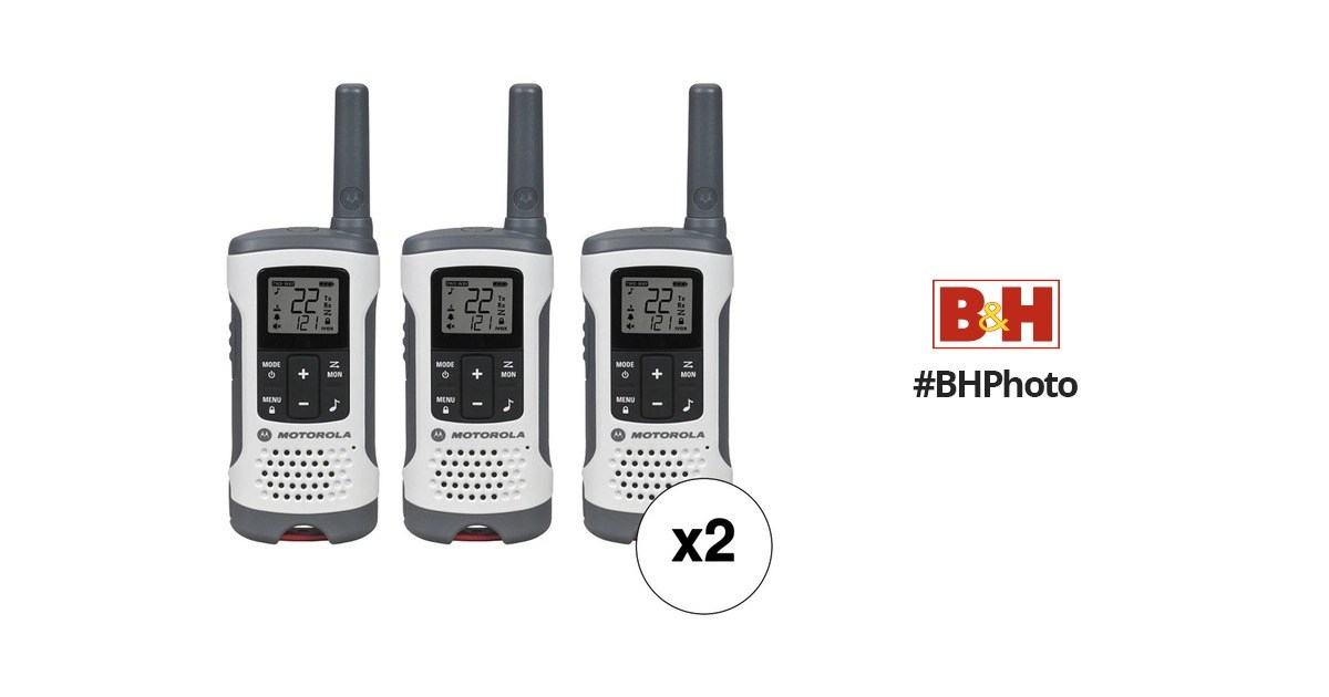 Motorola T260 Two-Way Radio Kit (6-Pack) T260 6-PACK B&H Photo