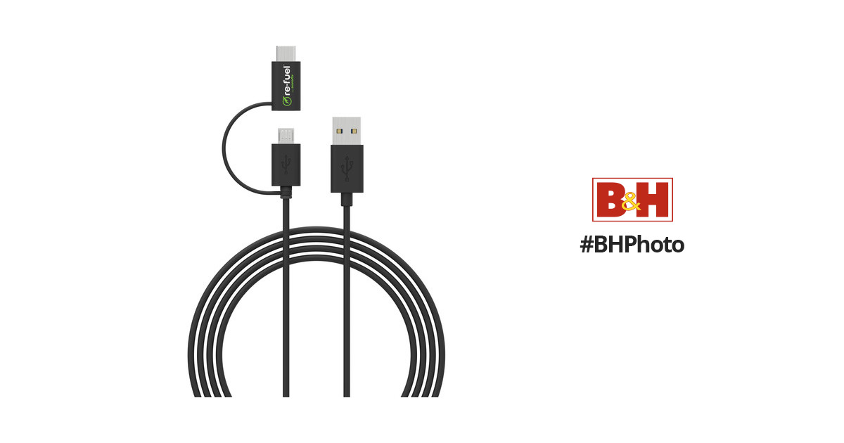 re-fuel Re-Fuel USB to Micro-USB Cable with Tethered RF-GP