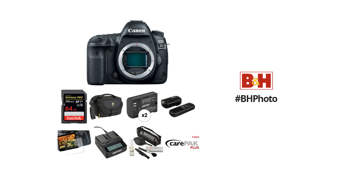 Canon EOS 5D Mark IV DSLR Camera Body Deluxe Kit B&H Photo