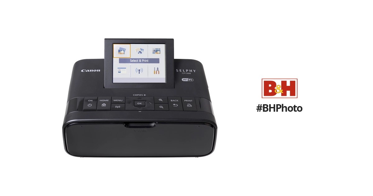 Canon SELPHY CP1300 Compact Photo Printer (Black) 2234C001 B&H