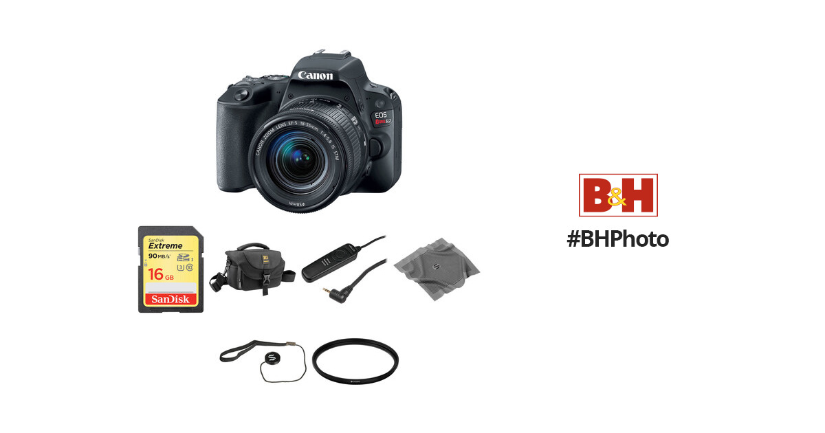 Canon EOS Rebel SL2 DSLR Camera with 18-55mm Lens Basic