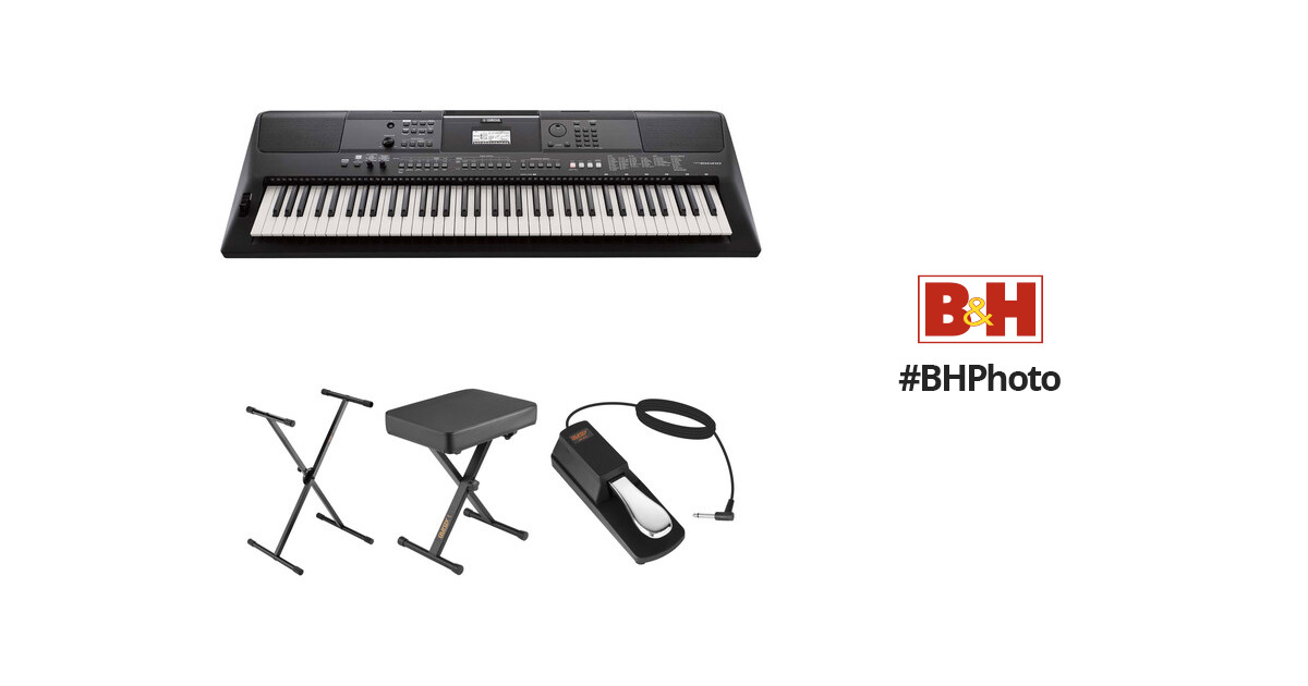 Yamaha PSR-EW410 Portable Keyboard Value Kit with Stand