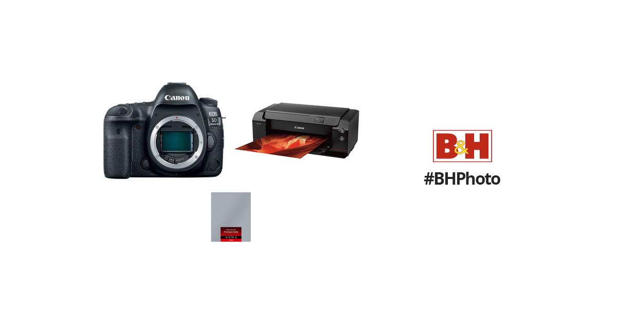 Canon EOS 5D Mark IV Camera Body with Inkjet Printer Kit B&H